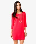 Essential Shift Dress - Fiery Red