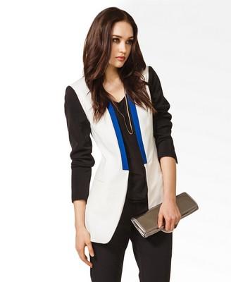Longline Colorblocked Blazer