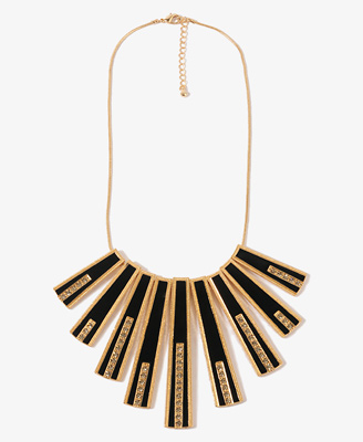 Rhinestoned Matchstick Necklace